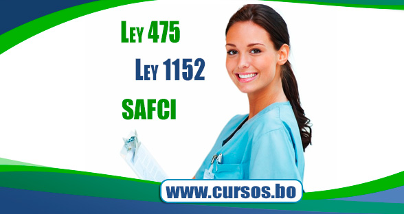 Curso Ley 475  - Ley 1152 Sistema Unico de Salud y Políticas SAFCI