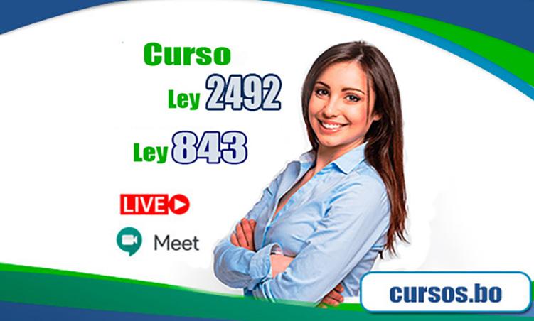 Curso Ley 843 y la Ley 2492 - On Line(VIVO🔴)