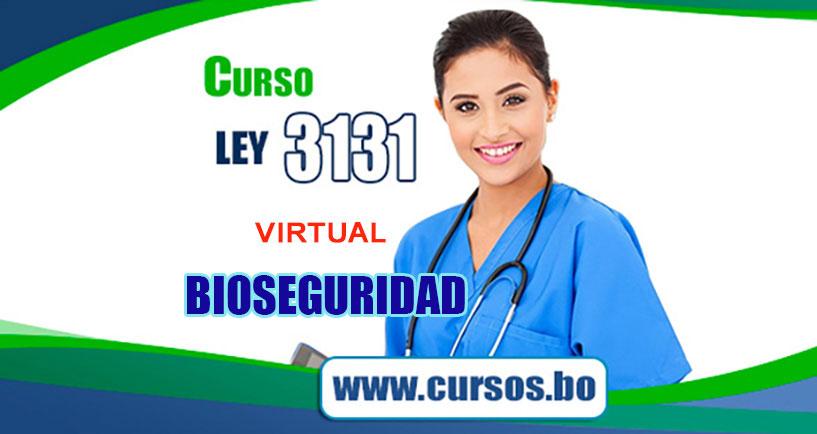 Curso Ley 3131 y Curso Bioseguridad Virtual (mediante ZOOM EN VIVO🔴)